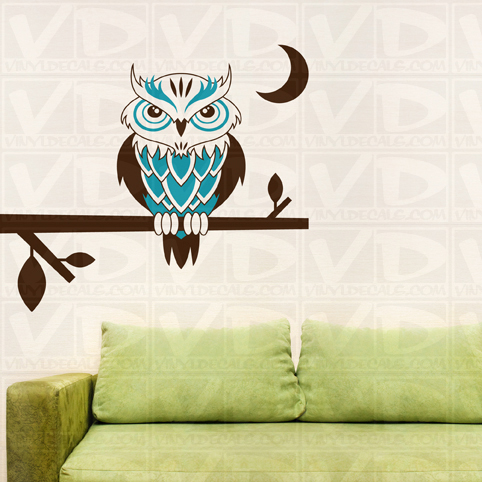 details about night owl tree branch wall decal sticker graphic