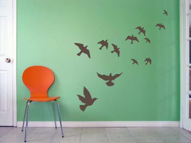 Vinyldecals Com Flying Birds Wall Art Decal