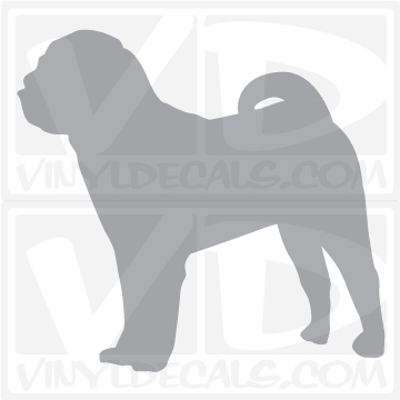 Vinyldecals Com Chinese Shar Pei Dog Vinyl Decal Sticker