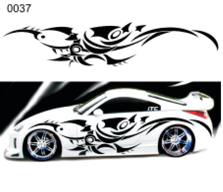 Tribal Style Vinyl Vehicle Graphic Kit - Custom vinyl graphics for cars
