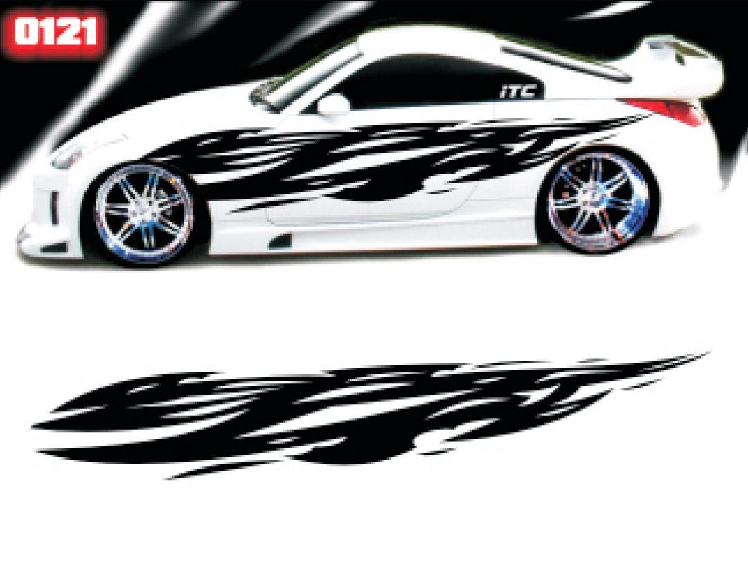 Car Motor Full Color Graphics Adhesive Vinyl Sticker Fit ... |Automotive Vinyl Graphics