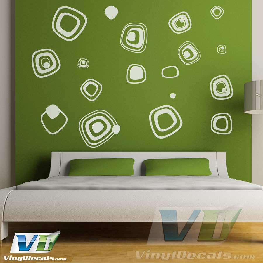 VinylDecals.com | Retro Squares - Wall Art Decals