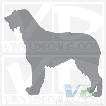 Irish Wolfhound Dog Vinyl Decal