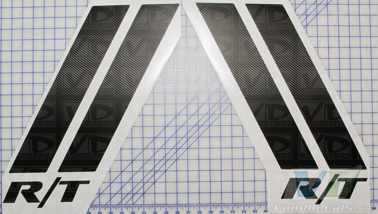 vinyldecalscom dodge magnum challenger rt style hood stripes