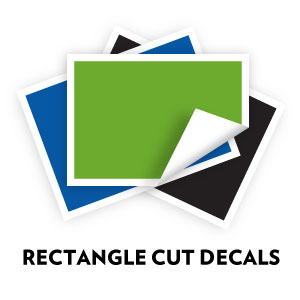 Custom Rectangle Cut Decals