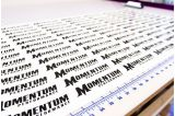 Black Momentum Die Cut Stickers