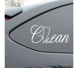 Clean Vinyl Decal