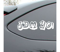 JDM yo  Style Vinyl Deca