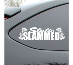 Static Slammed Vinyl Decal