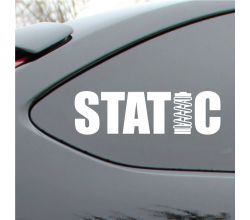 Static drop Vinyl Decal