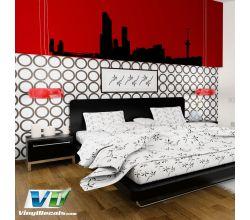 Rotterdam Netherlands Skyline Vinyl Wall Art Decal Sticker