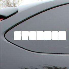 Stanced Block Style Vinyl Deca