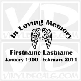 In Loving Memory Car Window Vinyl Decal Sticker
