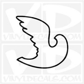 Abstract Dove Car Window Vinyl Decal Sticker