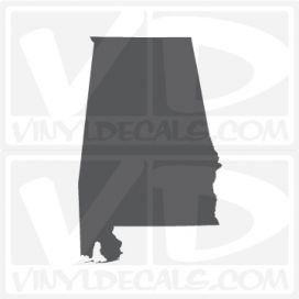 Alabama State Car Vinyl Decal Sticker