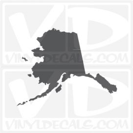 Alaska State Car Vinyl Decal Sticker