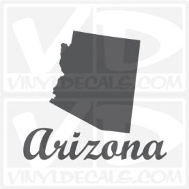 Arizona State Car Vinyl Decal Sticker