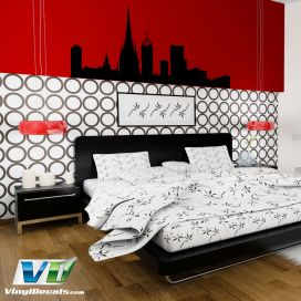 Barcelona Spain Skyline Vinyl Wall Art Decal Sticker