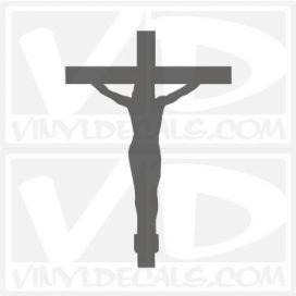 Christ on a Cross Outline Car Window Vinyl Decal Sticker