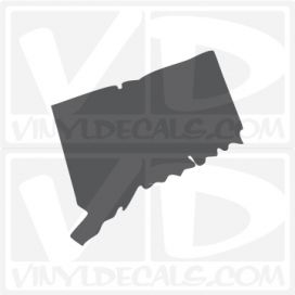 Connecticut State Car Vinyl Decal Sticker