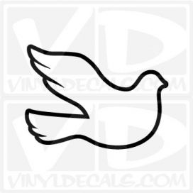 White Dove Outline Car Window Vinyl Decal Sticker
