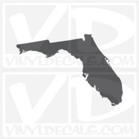 Florida State Car Vinyl Decal Sticker
