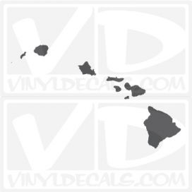 Hawaii State Car Vinyl Decal Sticker