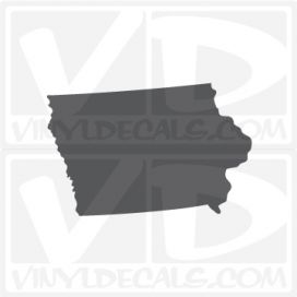 Iowa State Car Vinyl Decal Sticker