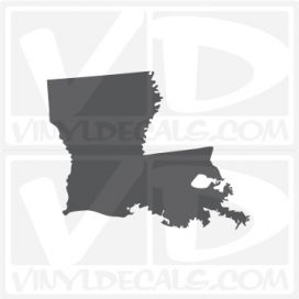 Louisiana State Car Vinyl Decal Sticker