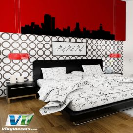 Madrid Spain Skyline Vinyl Wall Art Decal Sticker