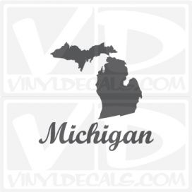 Michigan State Car Vinyl Decal Sticker