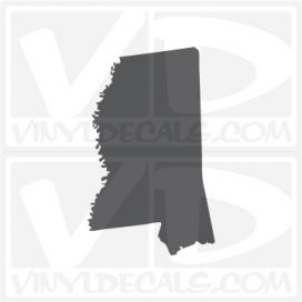 Mississippi State Car Vinyl Decal Sticker
