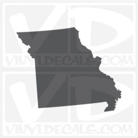 Missouri State Car Vinyl Decal Sticker