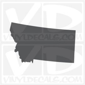Montana State Car Vinyl Decal Sticker
