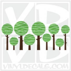 Lolly Tree Wall Art Decal Sticker