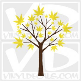 Maple Leaf Tree Wall Art Decal Sticker