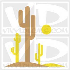 Tall Cactus Wall Art Decal