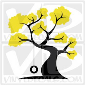 Tire Swing Tree Wall Art Decal Sticker