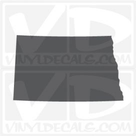 North Dakota State Car Vinyl Decal Sticker