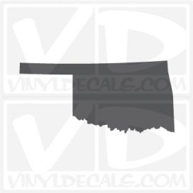 Oklahoma State Car Vinyl Decal Sticker