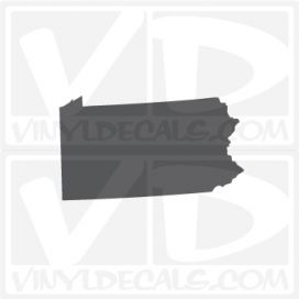 Pennsylvania State Car Vinyl Decal Sticker