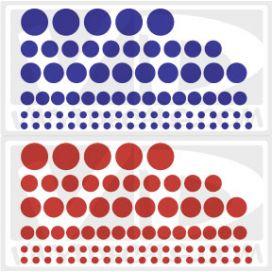 Polka Dots - Set of 160 Circles - Wall Art Decals