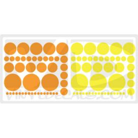 Seeing Spots - Set of 90 Circles - Wall Art Decals