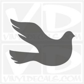 White Dove Car Window Vinyl Decal Sticker