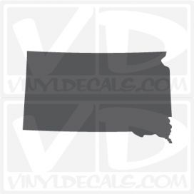 South Dakota State Car Vinyl Decal Sticker
