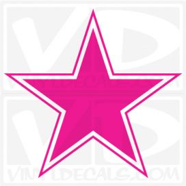 Outlined Star Vinyl Decal Sticker