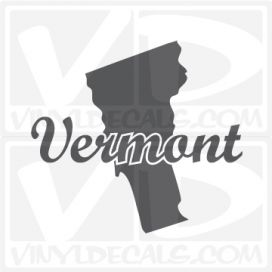 Vermont State Car Vinyl Decal Sticker