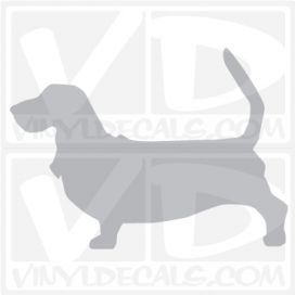 Basset Hound Vinyl Decal