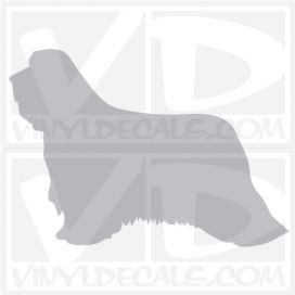 Bearded Collie Vinyl Decal
