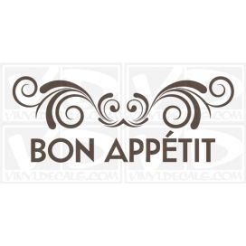 Bon Appétit wall vinyl decal stickers